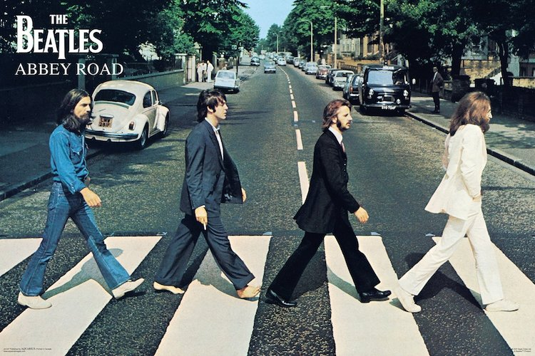 the beatles abbey road poster gift